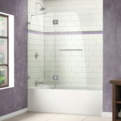 "Dreamline Aqualux 48"" W x 58"" H Clear Glass Bathtub Door"