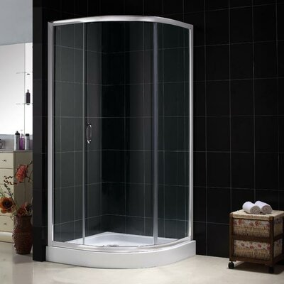 Dreamline Sparkle Sliding Door Shower Enclosure with Base and Backwall