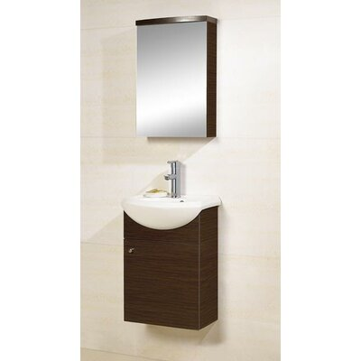Dreamline Modern Single Sink Bathroom Vanity Set
