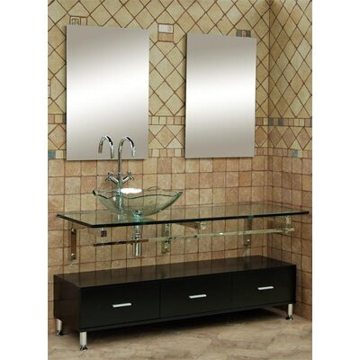 Dreamline Modern Glass Clear Horizon II Large Vanity