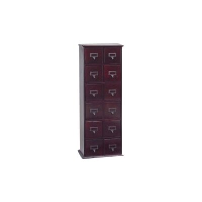 Leslie Dame Enterprises Library Style 12 Drawer Multimedia Cabinet