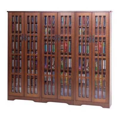 Leslie Dame Enterprises Glass Door High Capacity Multimedia Cabinet
