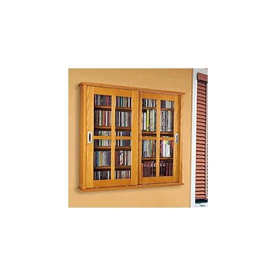 Leslie Dame Enterprises Glass Door Multimedia Wall Mounted Cabinet