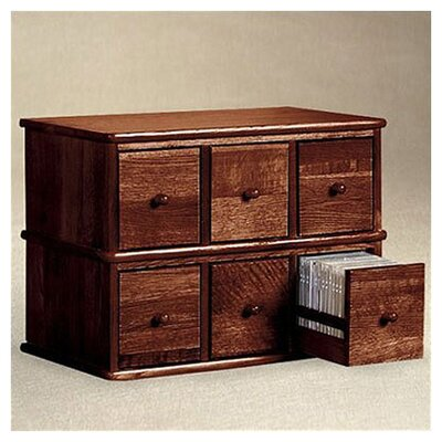 Leslie Dame Enterprises Apothecary Modular Multimedia Tabletop Storage Rack