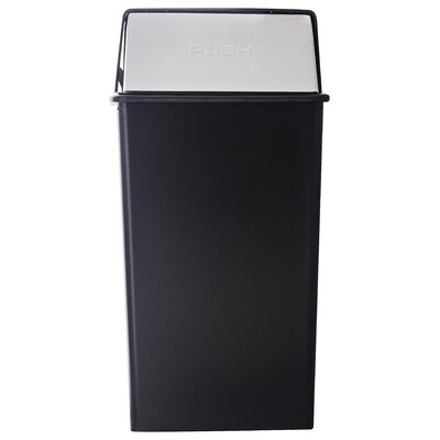 Witt Metal Series Monarch 36 Gallon Push Top Trash Can