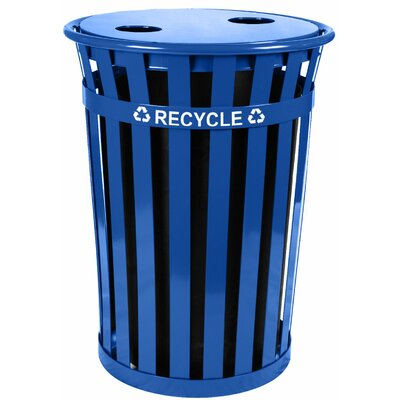 Witt Oakley Outdoor 36 Gallon Industrial Recycling Bin