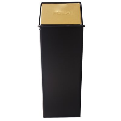 Witt 21 Gallon Metal Series Monarch Push Top Trash Can