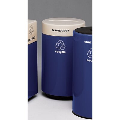 Witt Fiberglass Recycling 21 Gallon Glass Industrial Recycling Bin