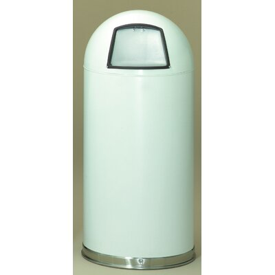Witt Metal Series 20 Gallon Dome Top Trash Can in White