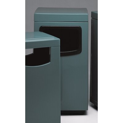 Witt Fiberglass Series 36 Gallon Side Entry Square Ash 'N Trash with Side Door