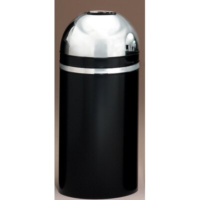 Witt Metal Series Monarch 15 Gallon Open Top Trash Can