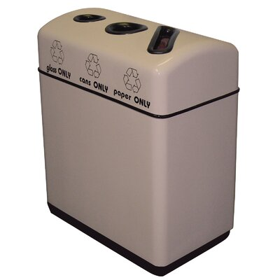 Witt 48 Gallon Triple Opening Fiberglass Recycling Container
