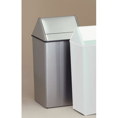 Witt Metal Series Wastewatchers 36 Gallon Stainless Steel Swing Top Receptacle