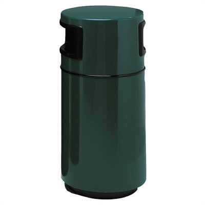 Witt Fiberglass Series 25 Gallon Side Entry Round Receptacle with 2 Openings