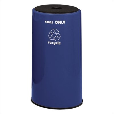 Witt Fiberglass Series 21 Gallon Round Can Recycling Container