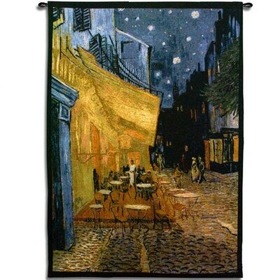 Fine Art Tapestries Cafe at Night Tapestry