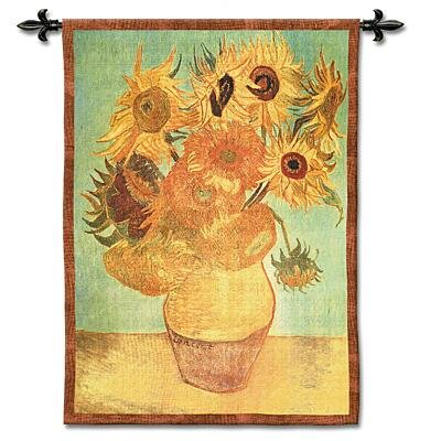 Fine Art Tapestries Sunflowers Tapestry