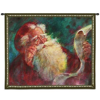 Fine Art Tapestries Santas List BW Wall Hanging