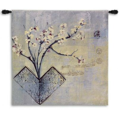Fine Art Tapestries Zen Flower BW Wall Hanging