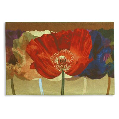 Fine Art Tapestries Abstract Poppy Tango by Mertens Tapestry