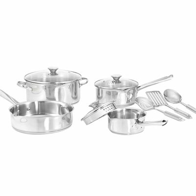 <strong>WearEver</strong> 3-Ply Stainless Steel 10-Piece Cookware Set