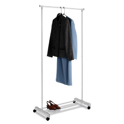Whitmor, Inc Adjustable Rolling Garment Rack