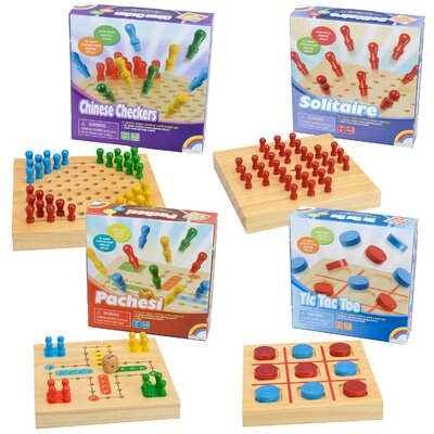 Summer Travel Wooden Board Game Set