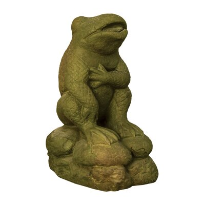Animals Cracked up Frog Statue