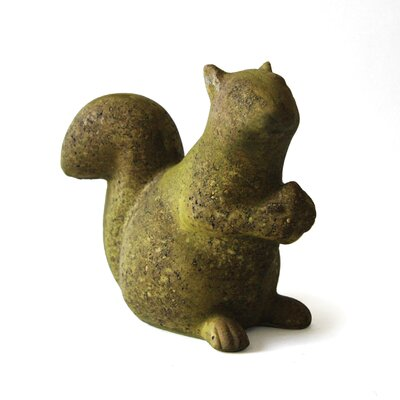 OrlandiStatuary Animals Squirrel with Acorn Statue
