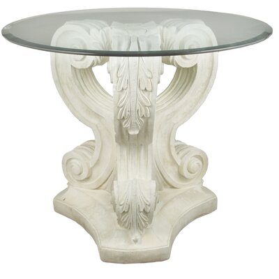 OrlandiStatuary Furniture Acanthus Leaf Outdoor Pedestal Side Table
