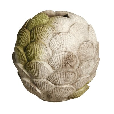 OrlandiStatuary Clam Shell Round Vase Planter