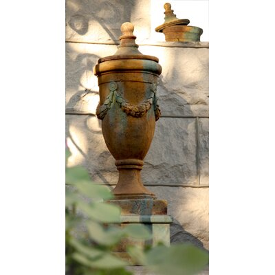 OrlandiStatuary Finial Urn of San Marino with Lid Planter
