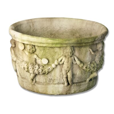 OrlandiStatuary Gallo Round Urn Planter