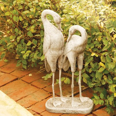 OrlandiStatuary Animals Two Storks Statue