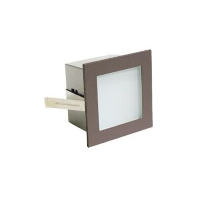 Retrofit Step Light Wall Recessed Retrofit Step Light In Bronze
