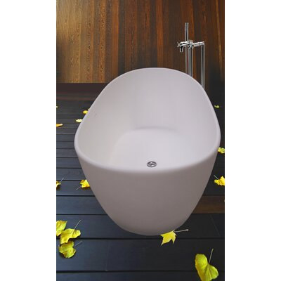 "Aquatica PureScape 64"" x 34"" Freestanding AquaStone Bathtub"