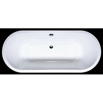 "Aquatica Inflection 66"" x 28"" Freestanding EcoMarmor Bathtub"