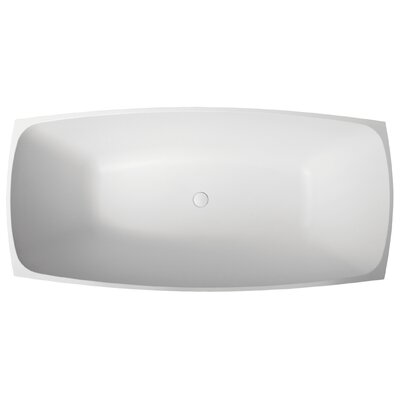 "Aquatica Elise 67"" x 32"" Bathtub"