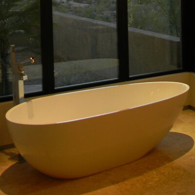 "Aquatica PureScape 67"" x 33"" Freestanding AquaStone Bathtub"
