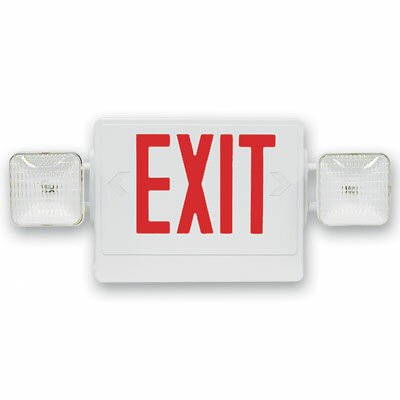 Barron Lighting Contractor Grade Thermo Plastic Red LED Exit Sign