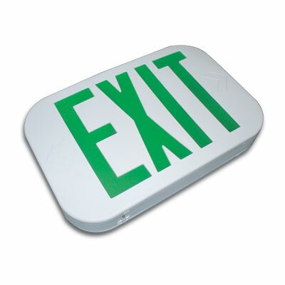 Barron Lighting Thermo Plastic Snap Design Exit Sign
