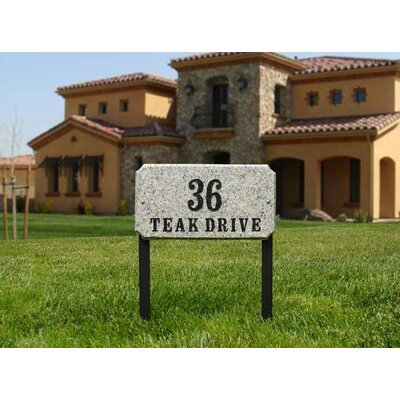 Qualarc Executive Rectangle Plaque with Lawn Stakes