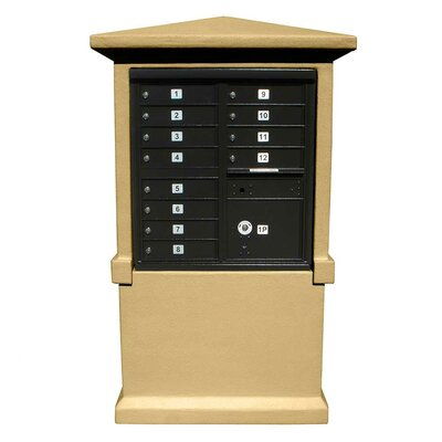 Qualarc Tall CBU Stucco Mailbox Center Column