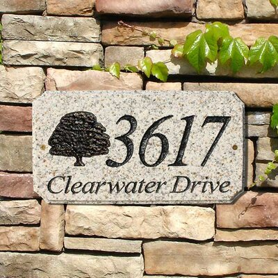 Qualarc Tree Emblem Address Plaque