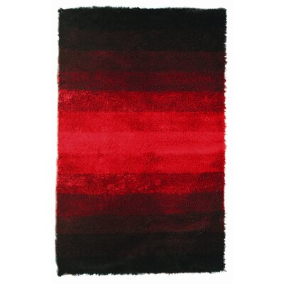 Noble House Jewel Black/Red Rug