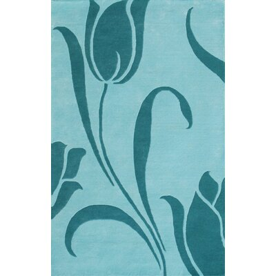 Noble House Floral Light Blue Rug