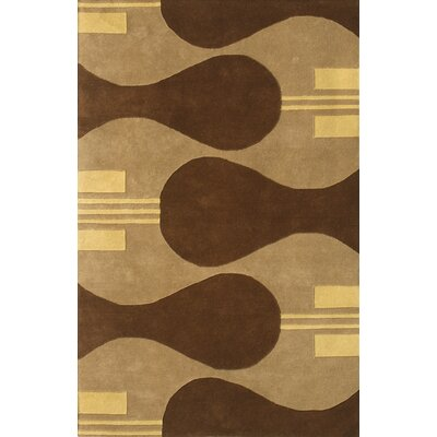 Noble House Eleen Camel/Brown Rug