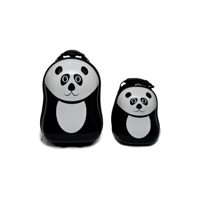 TrendyKid 2 Piece Pom Panda Children's Luggage Set