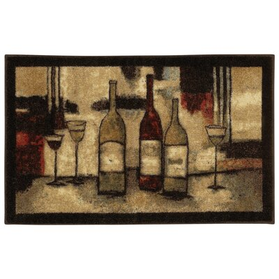 Mohawk Select New Wave Wine And Glasses Novelty Rug