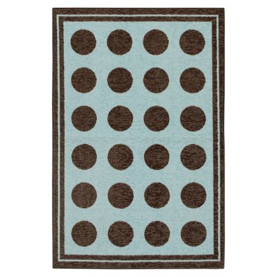 Mohawk Select Woodgrain Light Blue Fluffy Kids Rug